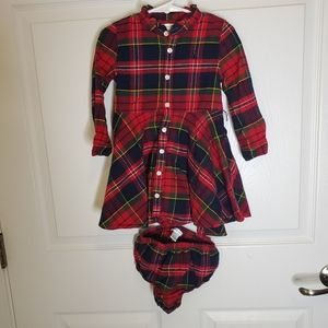 Ralph Lauren Flannel Dress with Bloomers 24 mos